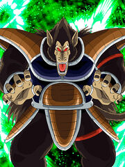 Dokkan Battle Warrior Race's Backbone Raditz (Great Ape) card (Great Ape Mode Raditz SSR-UR)