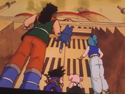 Goku, Bulma, Oolong, Yamcha e Pual raggiungono il castello di Pilaf