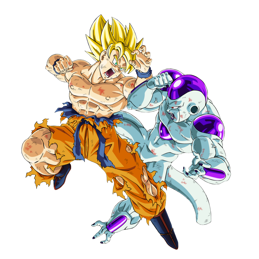 Son Goku Super Saiyajin vs Freezer 100 de Poder  Dragon Ball