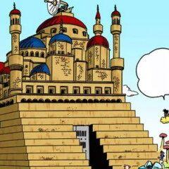 Il castello di Pilaf nelle illustrazioni a colori del manga