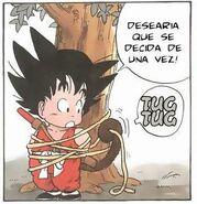 Goku desatandose