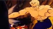 Goku esquivando golpes