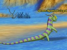 Green Spotted lizard 2