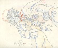 Genga Vegeta SS2 vs. Majin Boo Puro (Tate)