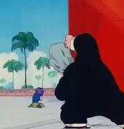 Jackie Chun observa a Ranfan