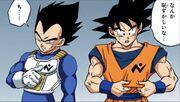 Vegeta e Son Goku membri della Pattuglia Galattica