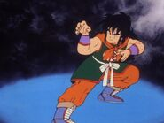 Yamcha getting ready for his wolf fang fist