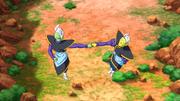 Zamasu and Gowasu travel to the past