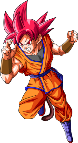 Super saiyan god goku jr dragonball