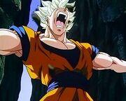 Goku pushes