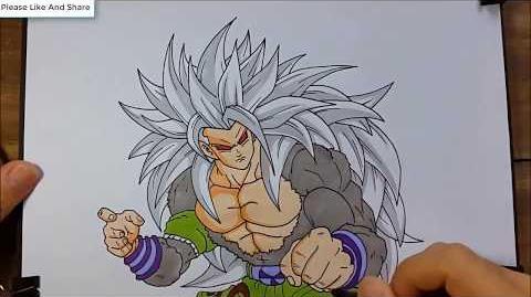 Drawing Goku Super Saiyan 5 Dragon Ball