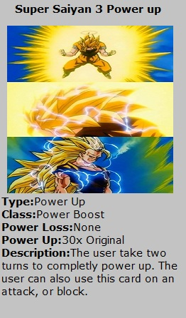 Card Ssj3 Power Up