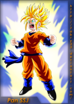 Pan Super Saiyan is yellow hair