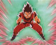Goku uses kaioken