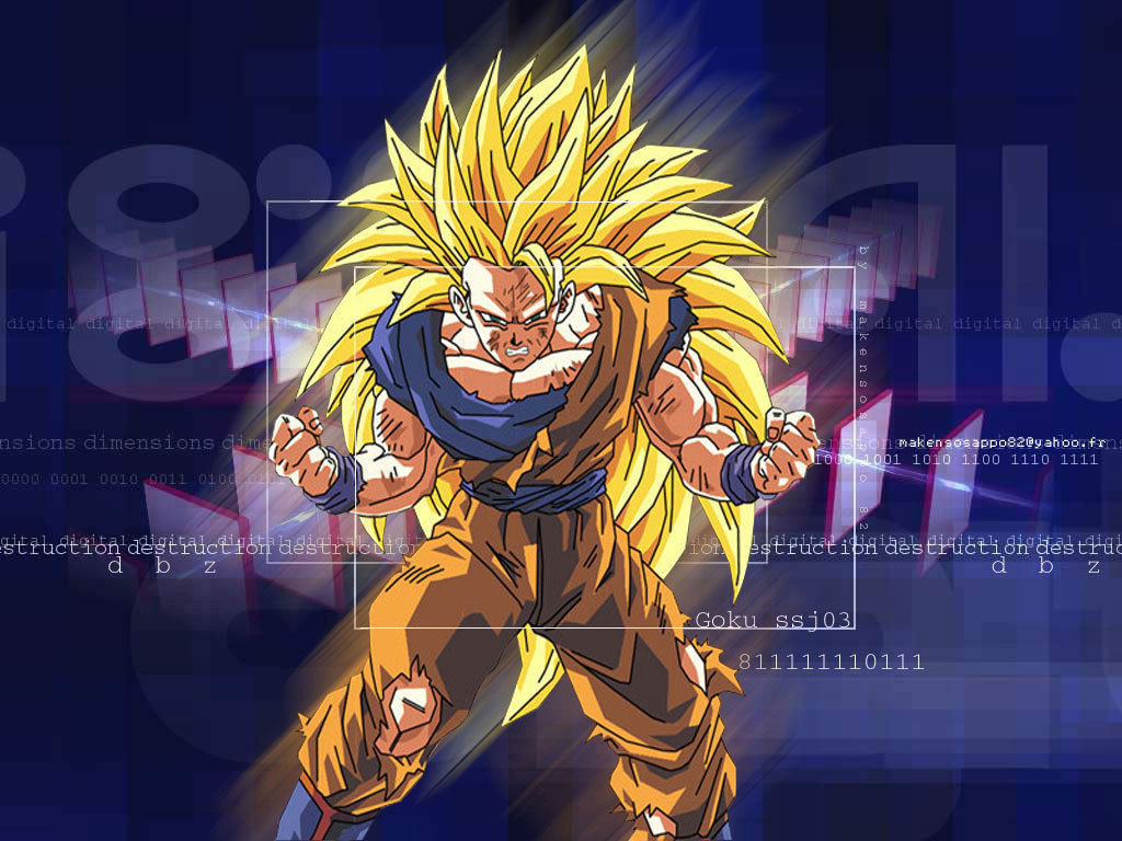 Goku Super Saiyan 3 Wallpaper 2 Dragonball Z Movie Characters 16255435 1024 768
