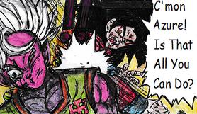 SS4 Goku vs. Azure