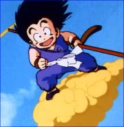 Goku On The Flying Nimbus