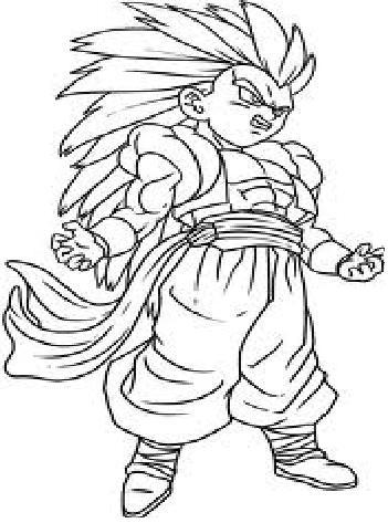 gotenks coloring pages - photo#16