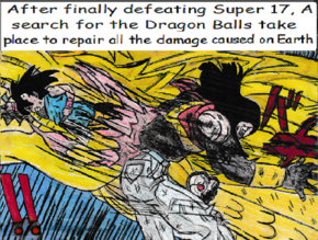 Goku Defeating Super 17 With Dragon Fist