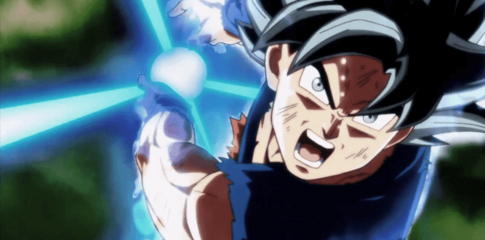Goku prepara el Kamehameha final (DBGSM2)