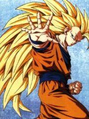 Goku Super Saiyan 3 gets ready to fight Daniel