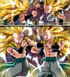 Dragon Ball Multiverse(Gotenks-Super Saiyan 3) Vs Himself