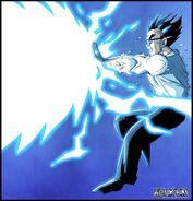 Dragon Ball Multiverse(Mystic Gohan) Stopping Vegeta's Big Bang Attack