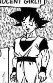 Goku suprised