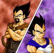 Dragon Ball Multiverse(King Vegeta) Vs Vegeta
