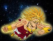 Dragon Ball Multiverse(Broly-Super Saiyan) Flying Through Space