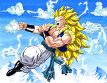 Dragon Ball Multiverse(Gotenks-Super Saiyan 3) Flying