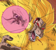 Dragon Ball Multiverse(Ice Kurima-True Form At 100% Percent) Vs Queen Hanasia(Golden Great Ape)