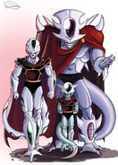 Dragon Ball Multiverse(Snower-Third Restriction Form) With Frosty(True Form) And Ice Kurima(First Restriction Form)
