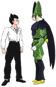 Cell y Gohan