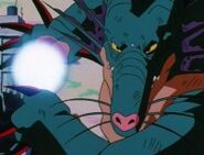 Naturon Shenron, with Pan absorbed, performing the Kamehameha wave