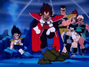 Unnamed Saiyan Elites along with Prince Vegeta King Vegeta and Nappa