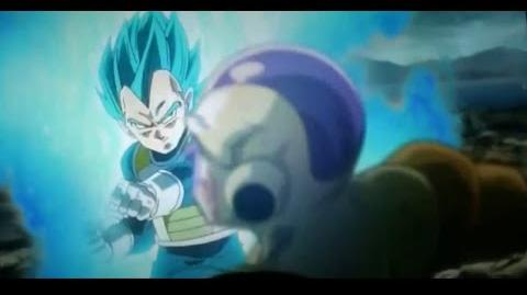 NEW SCENES 5 VEGETA SuperSaiyan GOD SS vs Golden Freezer (Full Fight) DBZ Fukkatsu no F Abril 2015