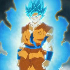 Супер Сайян Голубой Гоку после трансформации