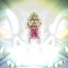 Легендарный Супер Сайян 3 Броли появляется перед Драконом Чёрного Дыма (спэшл-муви к 7-ой Миссии Зла, <i>Dragon Ball Heroes</i>)