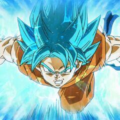 Супер Сайян Голубой Гоку идёт в атаку (2)