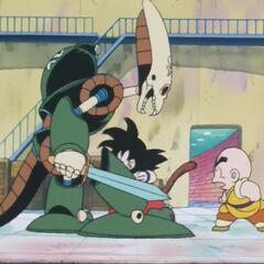 Робот Пират атакован Гоку