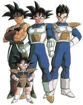 Bardock,Son Goku,Son Gohan,Son Goten
