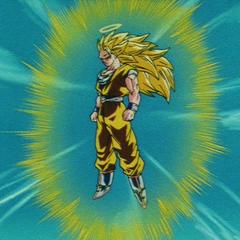 Супер Сайян 3 Гоку за мгновение до атаки