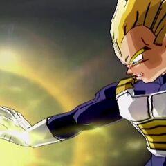 Супер Веджета заряжает Атаку Большой Взрыв в