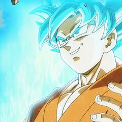 Супер Сайян Голубой Гоку объясняет Фризе принцип его трансформации