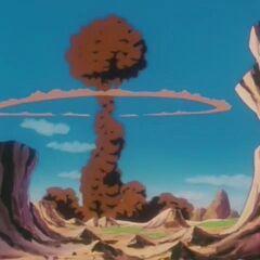 Ядерный гриб после взрыва Атаки Большой Взрыв