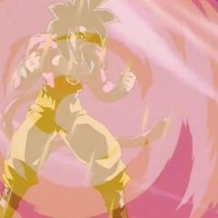 Аура Супер Сайяна 4 Гоку становится мощнее благодаря энергии товарищей