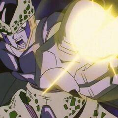 Селл атакует Маканкосаппо в Dragon Ball GT