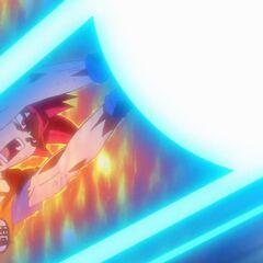 Супер Сайян Бог Гоку стреляет Камехамеха