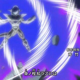Трансформировавшийся в Штурмовую форму Фрост в опенинге Dragon Ball Super